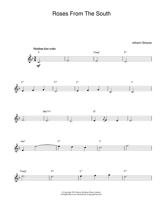 Roses From The South sheet music