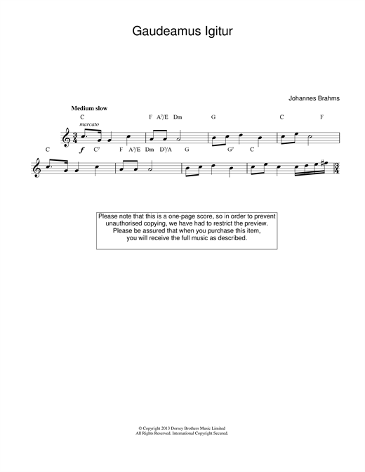 Gaudeamus Igitur sheet music