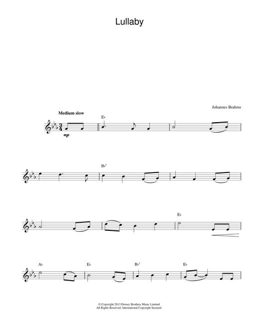 Lullaby sheet music