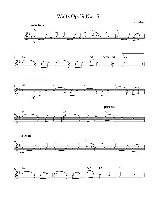 Waltz Op.39 No.15 sheet music