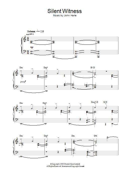 Silent Witness sheet music