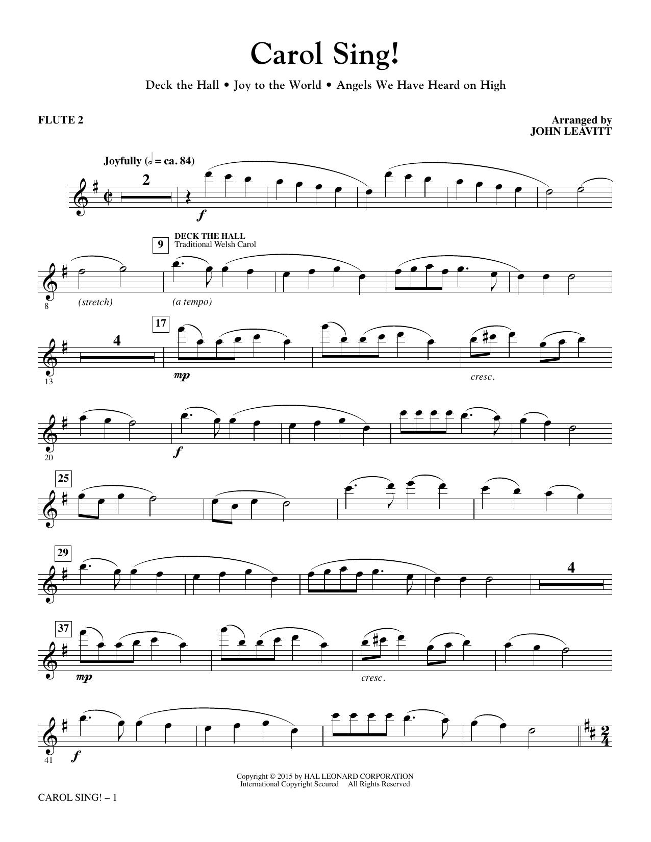Carol Sing! - Flute 2 sheet music