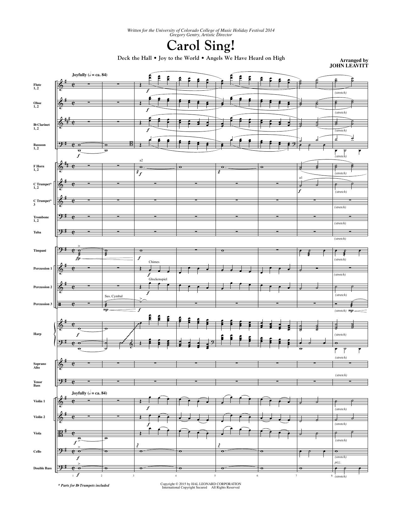 Carol Sing! - Full Score sheet music