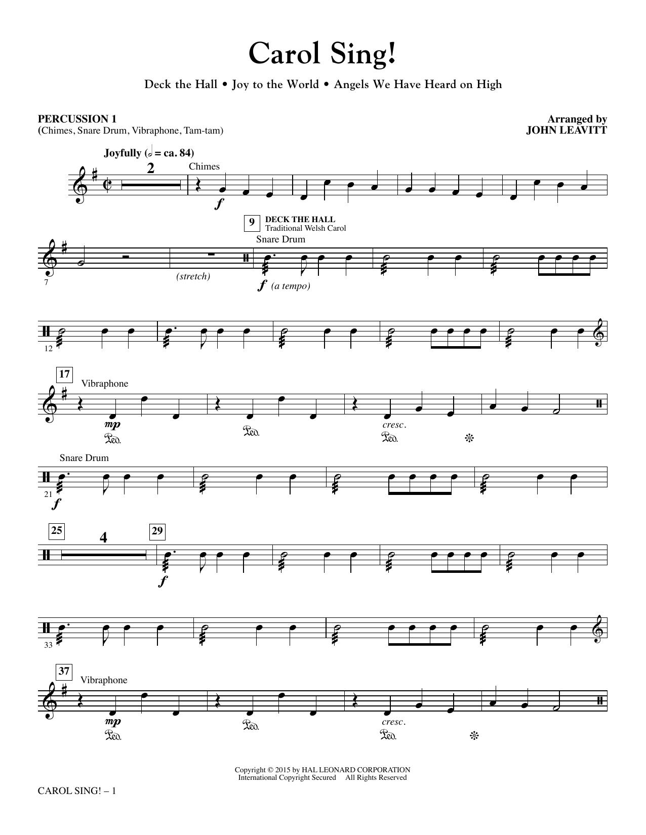 Carol Sing! - Percussion 1 sheet music