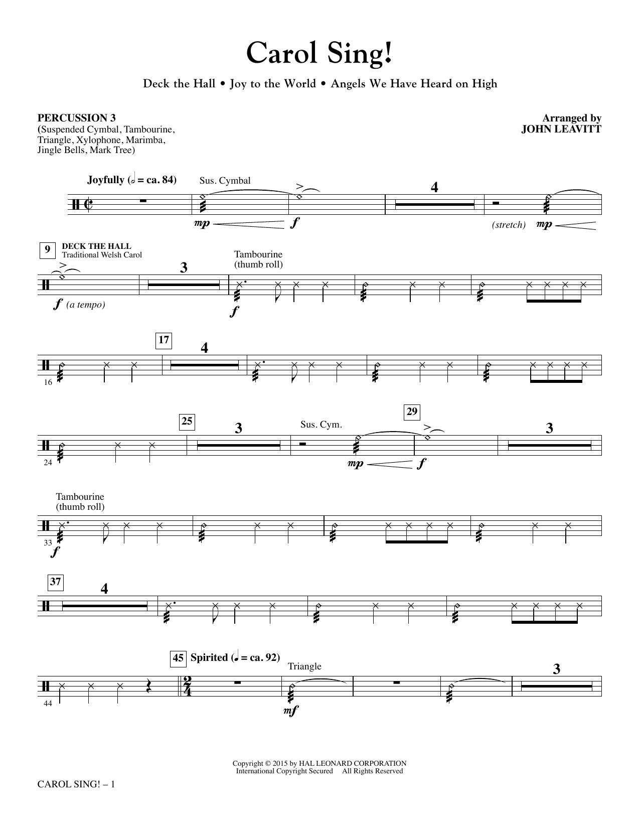 Carol Sing! - Percussion 3 sheet music