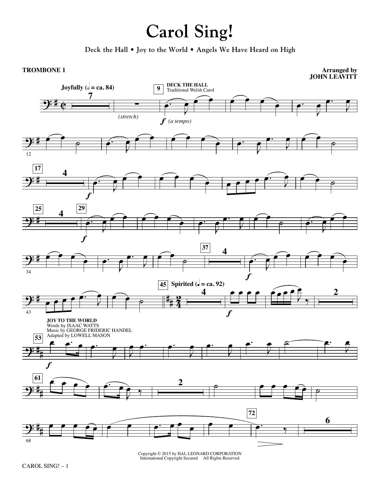 Carol Sing! - Trombone 1 sheet music