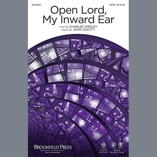 John Leavitt, Open Lord, My Inward Ear - Percussion 1, Choir Instrumental Pak