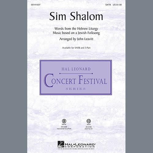 John Leavitt, Sim Shalom - Double Bass, Choir Instrumental Pak