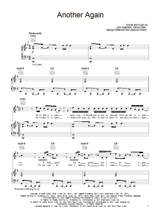 Another Again sheet music