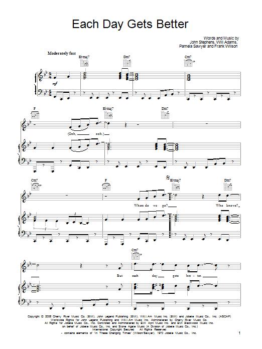 Each Day Gets Better sheet music
