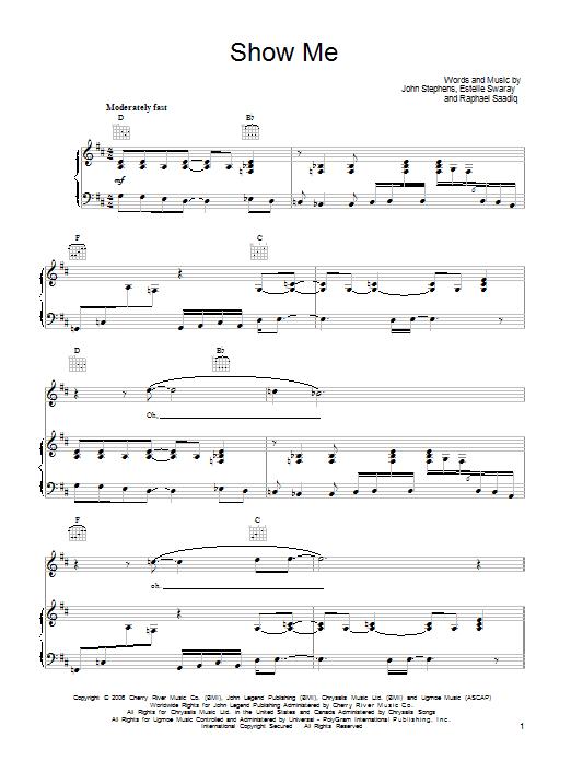 Show Me sheet music