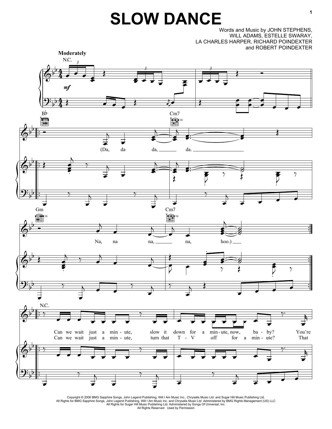 Slow Dance sheet music