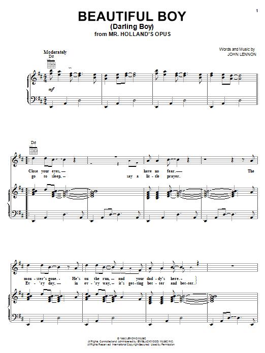 Beautiful Boy (Darling Boy) sheet music