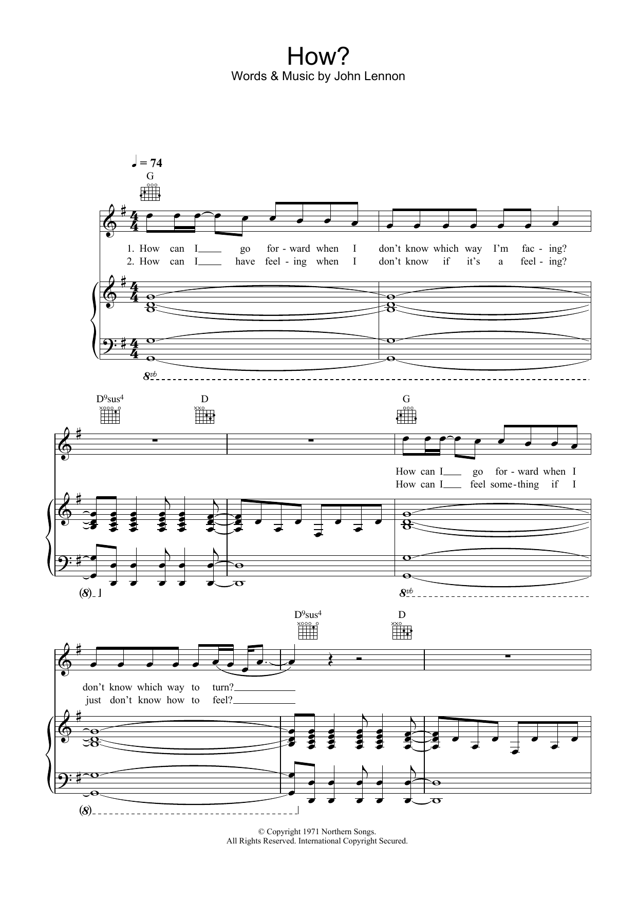 How sheet music