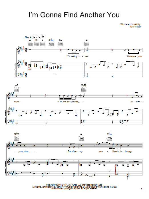 I'm Gonna Find Another You sheet music