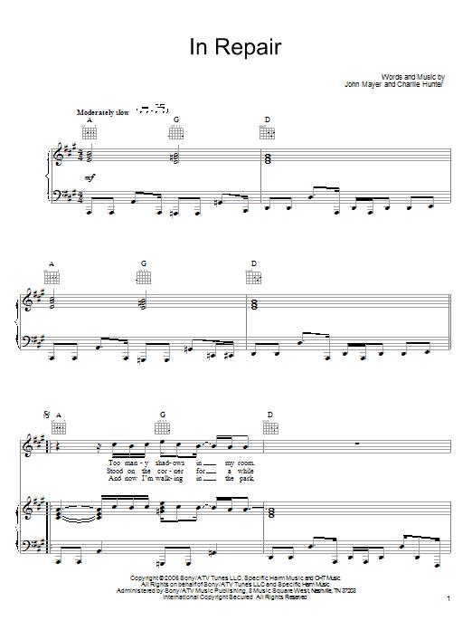 In Repair sheet music