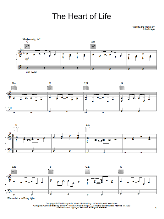 The Heart Of Life sheet music