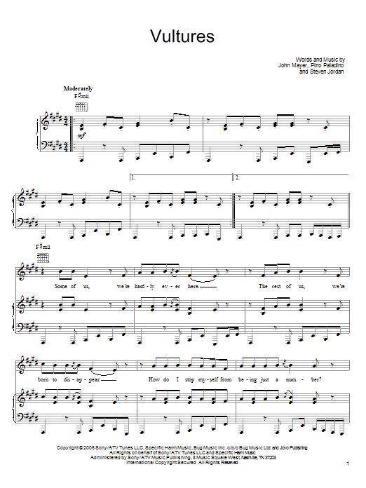 Vultures sheet music