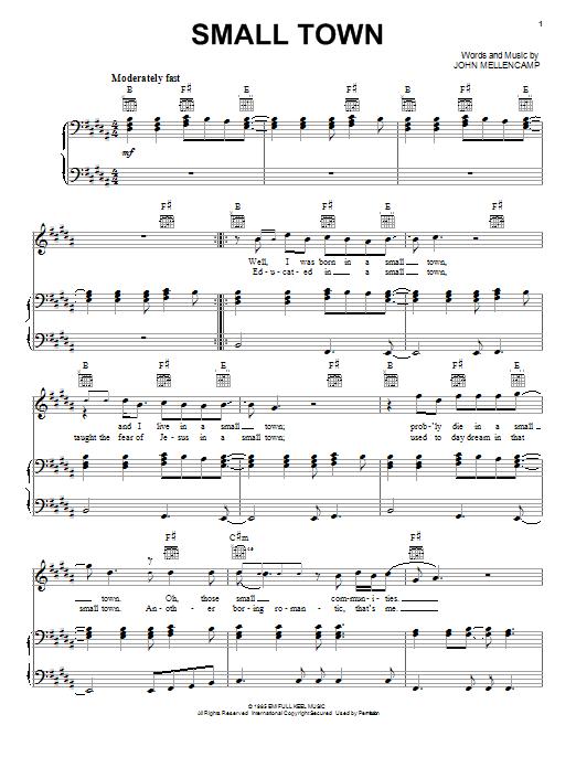 Small Town sheet music
