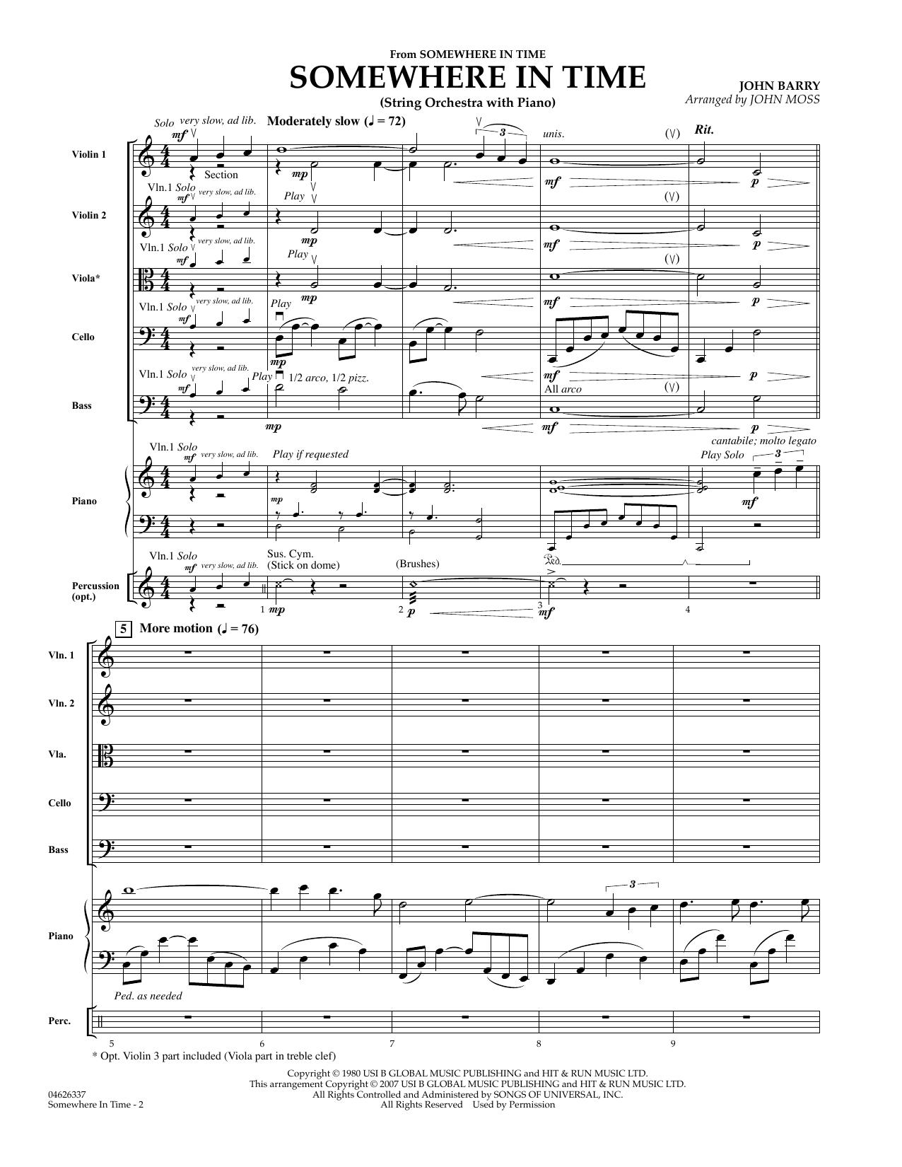 Somewhere in Time - Full Score sheet music