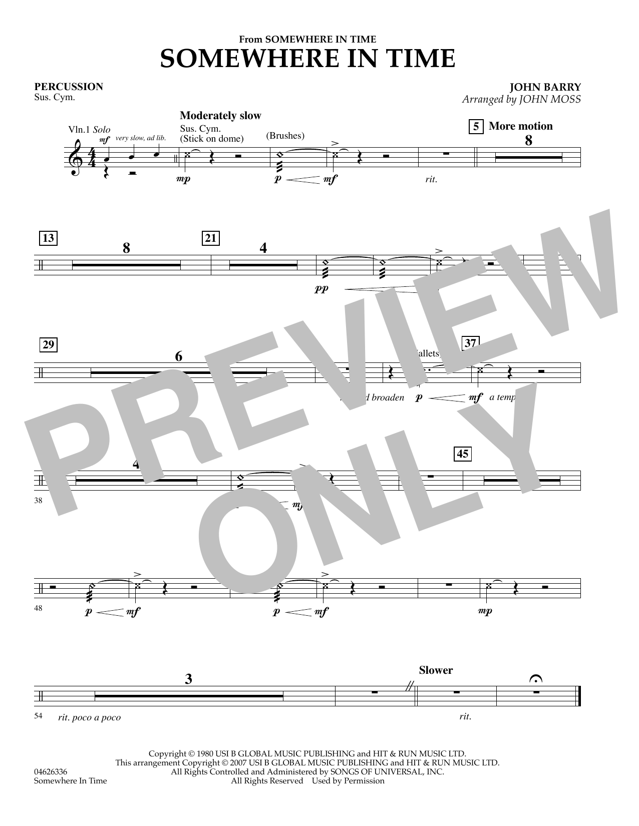 Somewhere in Time - Piano sheet music