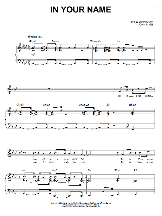 In Your Name sheet music