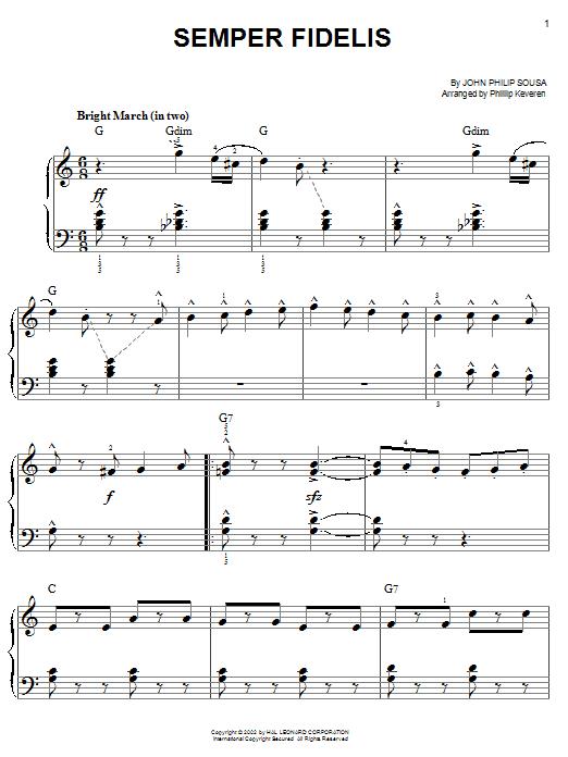 Semper Fidelis sheet music