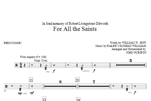 For All The Saints - Percussion sheet music