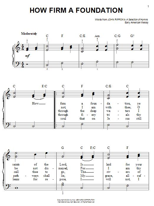 How Firm a Foundation sheet music
