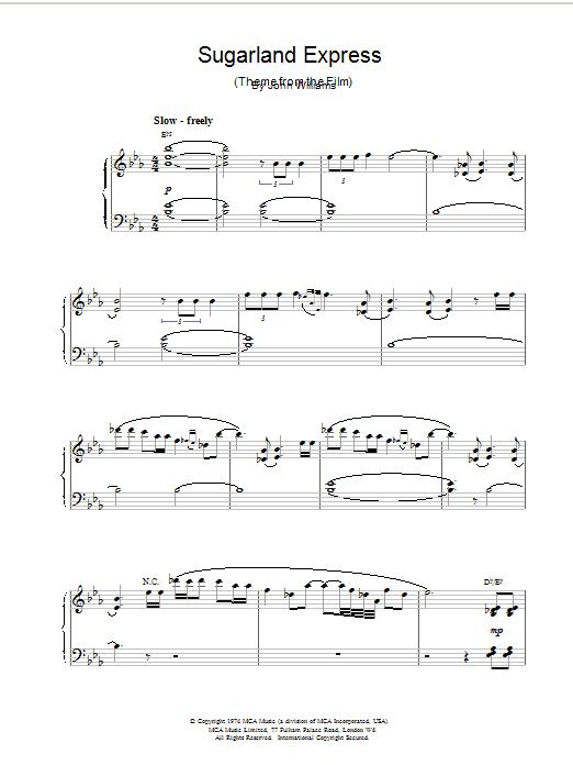 Sugarland Express sheet music