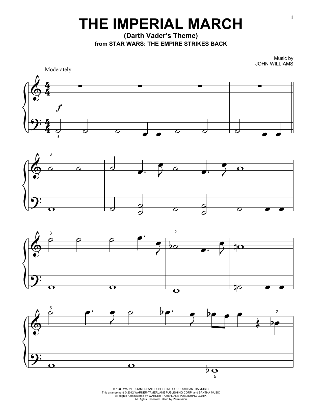 The Imperial March (Darth Vader's Theme) sheet music