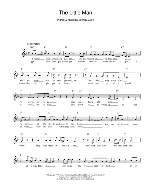 The Little Man sheet music