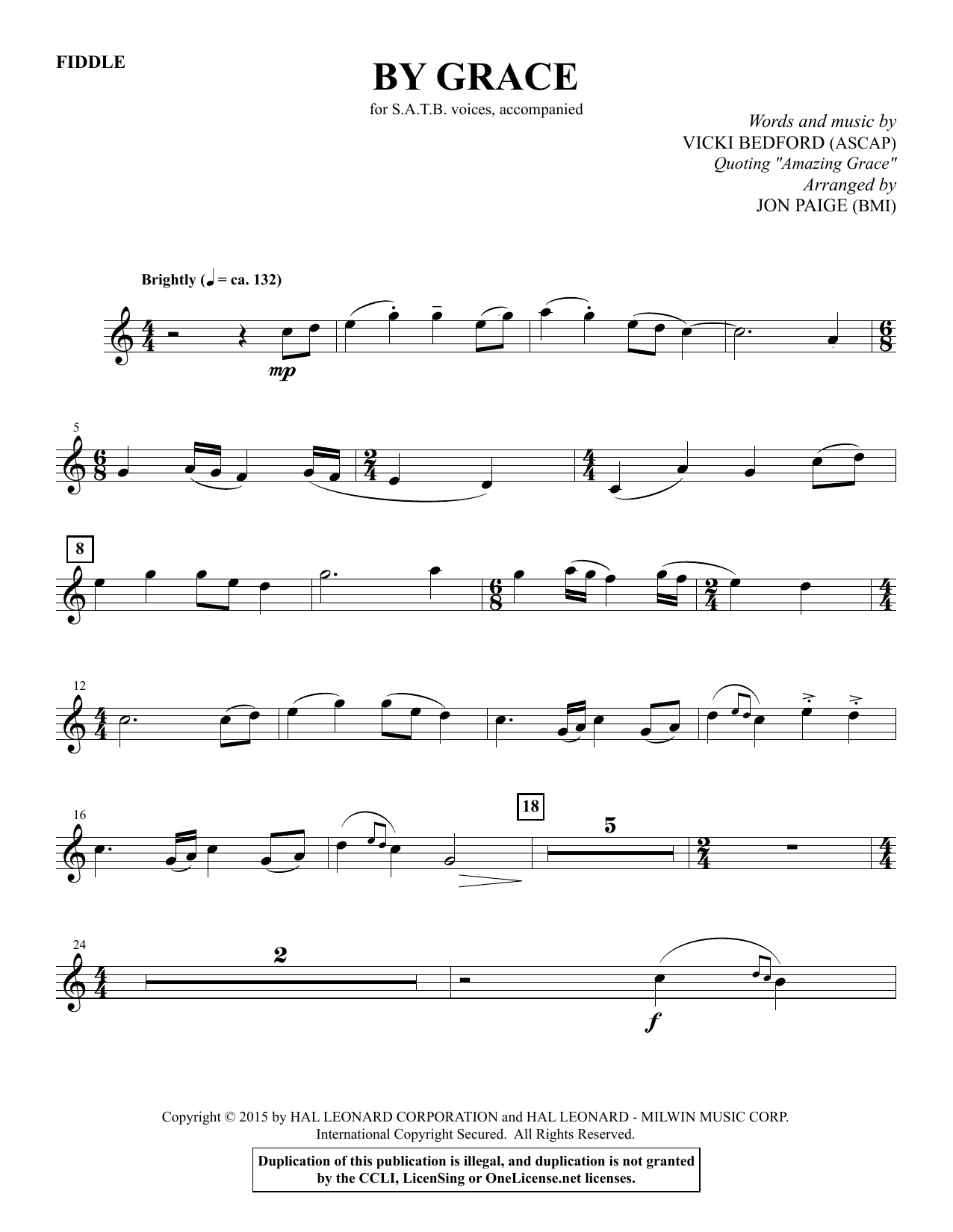 By Grace - Acoustic Guitar sheet music