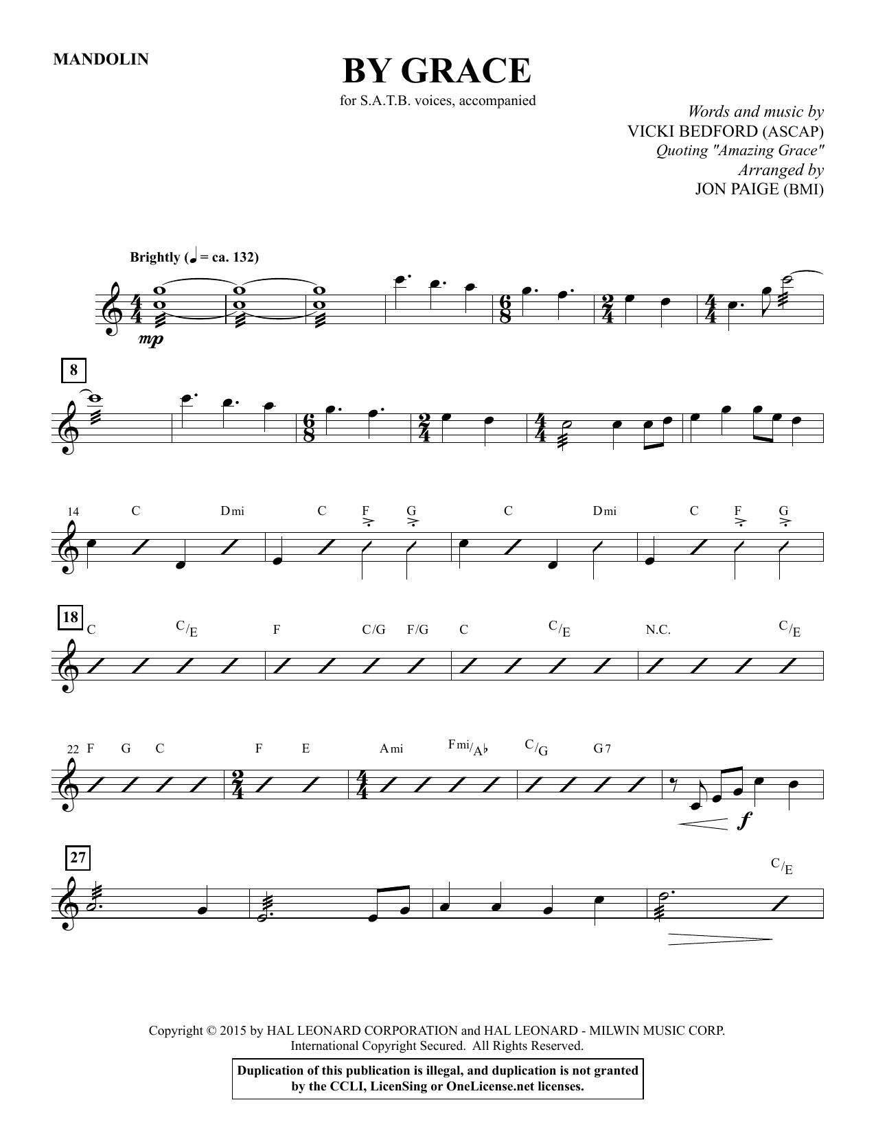 By Grace - Fiddle sheet music
