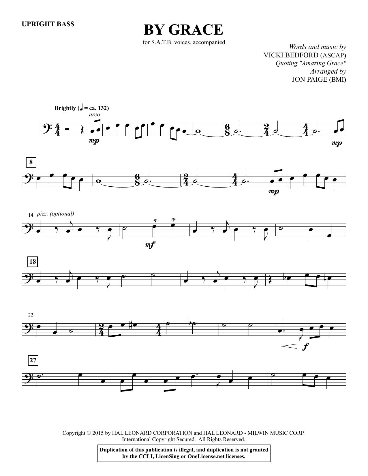 By Grace - Upright Bass sheet music