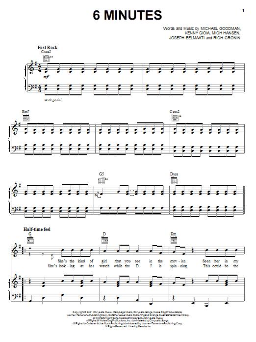 6 Minutes sheet music