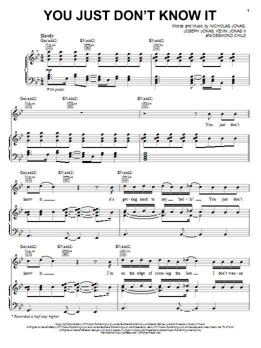 You Just Don't Know It sheet music