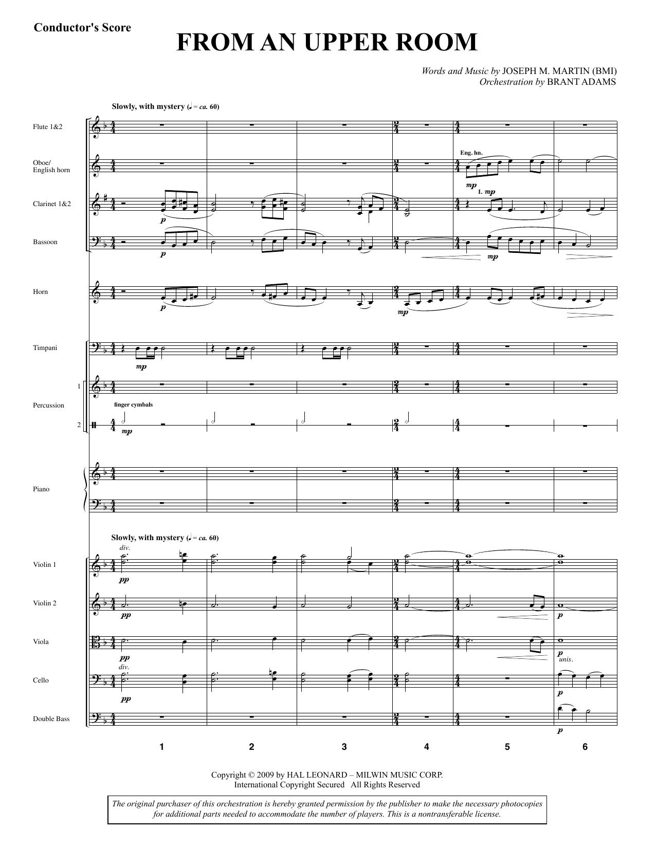 From An Upper Room (from Lenten Sketches) - Full Score sheet music