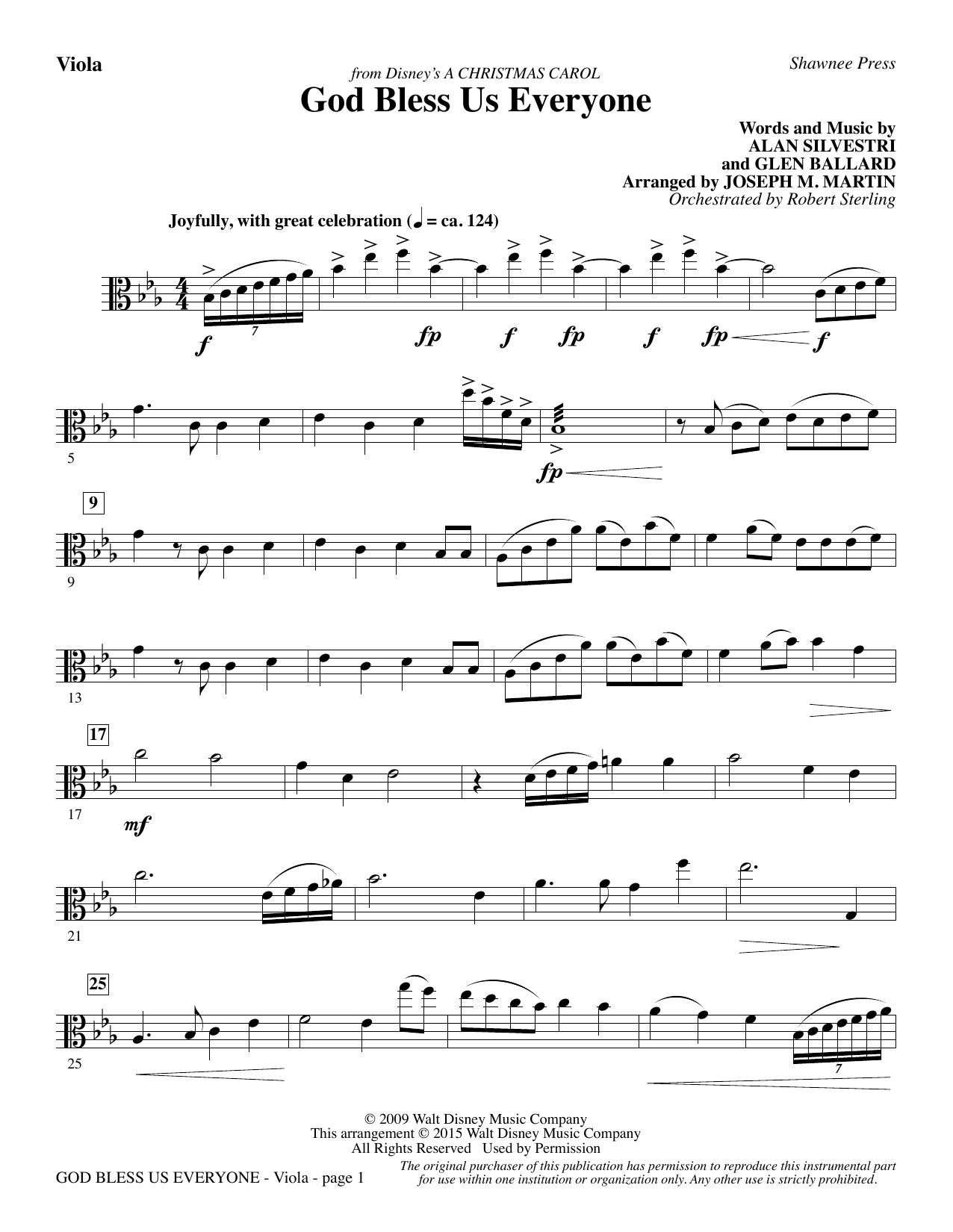 God Bless Us Everyone (from Disney's A Christmas Carol) - Viola sheet music