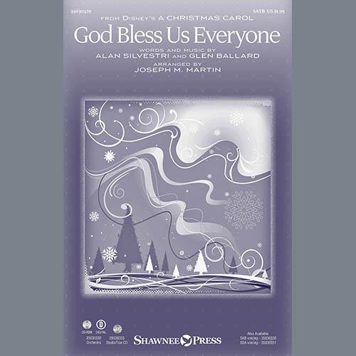 Joseph M. Martin, God Bless Us Everyone (from Disney's A Christmas Carol) - Violin 2, Choir Instrumental Pak