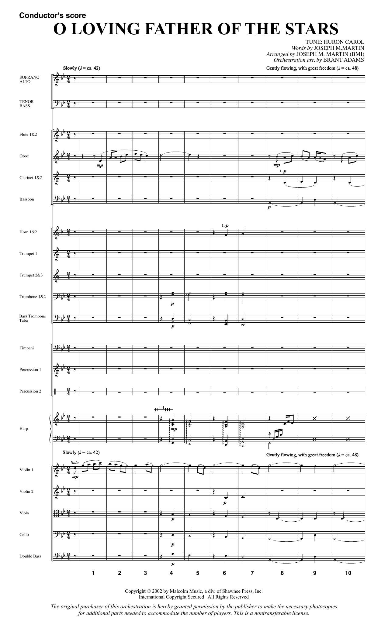 O Loving Father Of The Stars (from Morning Star) - Full Score sheet music