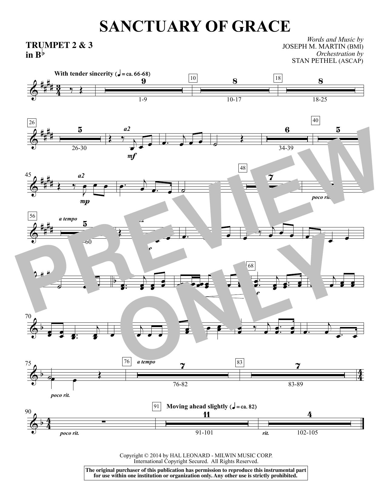 Sanctuary Of Grace (from Sanctuary) - Bb Trumpet 2,3 sheet music
