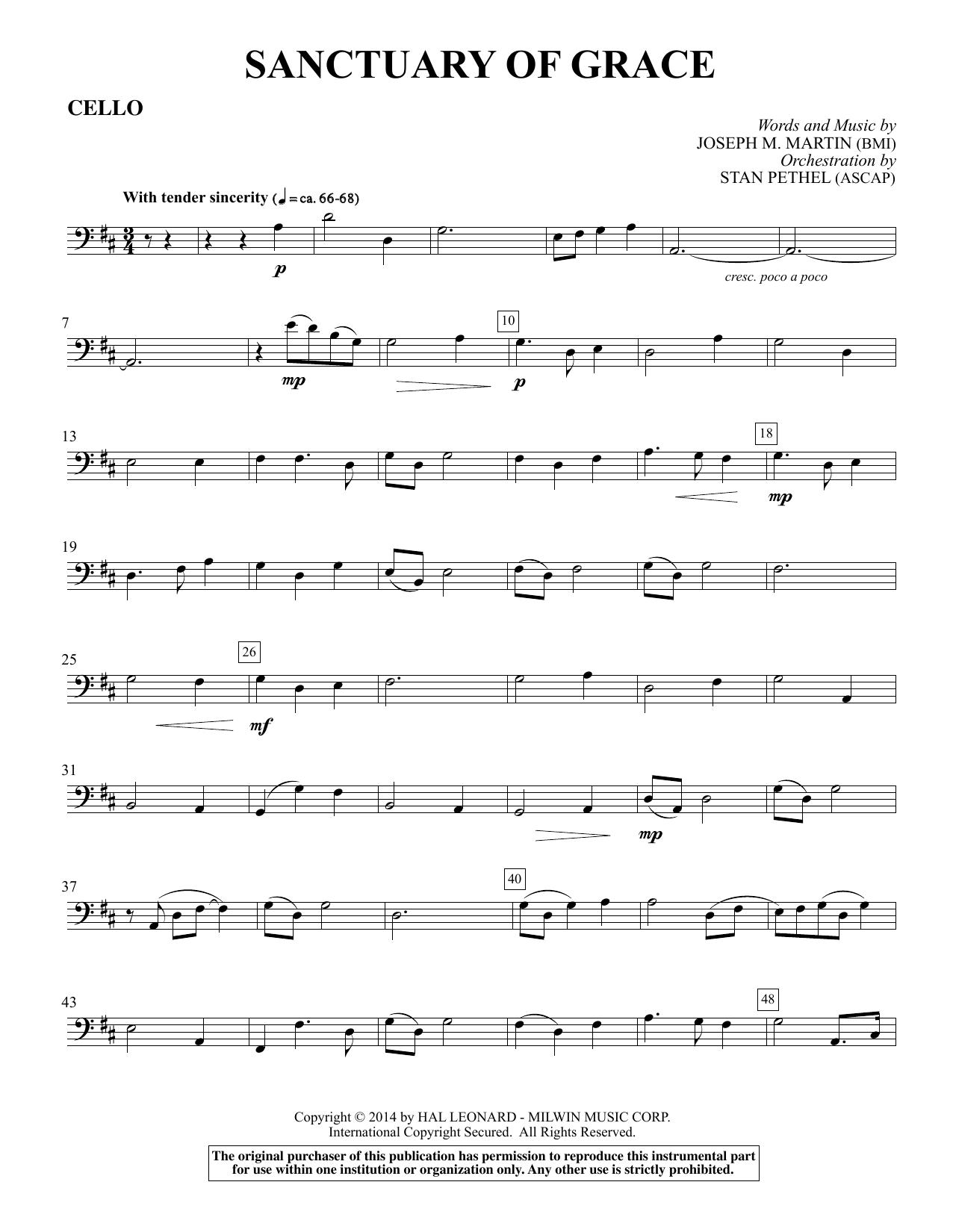 Sanctuary Of Grace (from Sanctuary) - Cello sheet music
