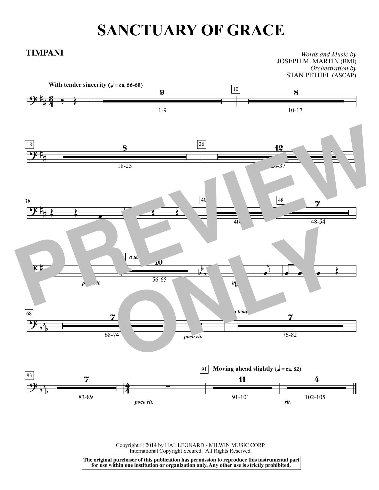 Sanctuary Of Grace (from Sanctuary) - Timpani sheet music
