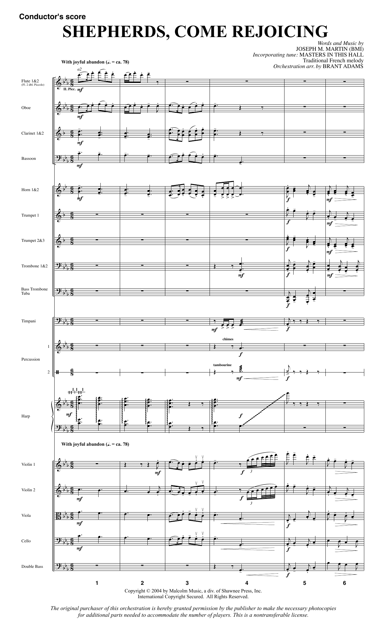Shepherds, Come Rejoicing (from Voices Of Christmas) - Full Score sheet music