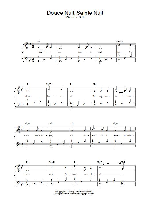 Douce Nuit, Sainte Nuit sheet music
