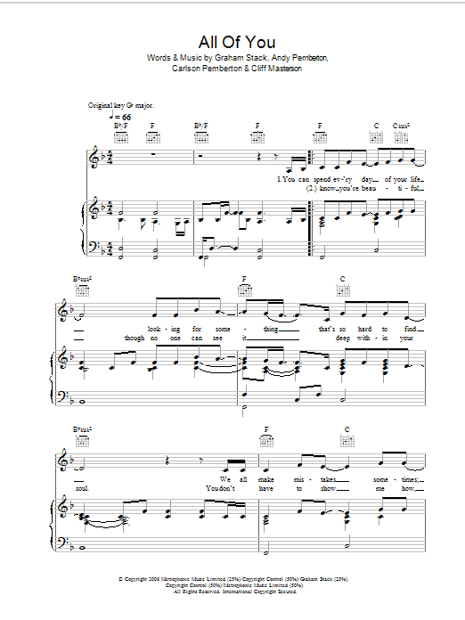 All Of You sheet music