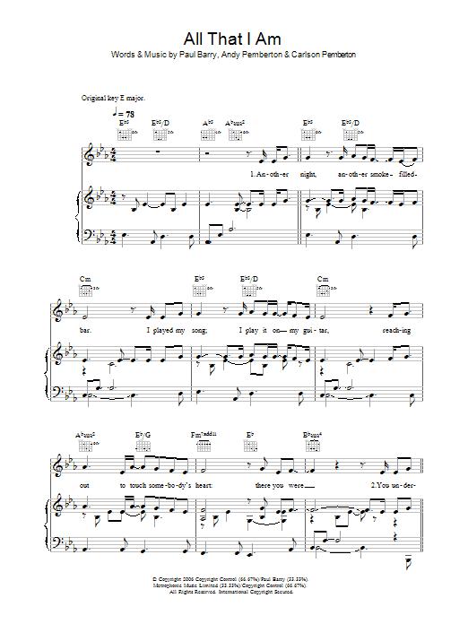 All That I Am sheet music