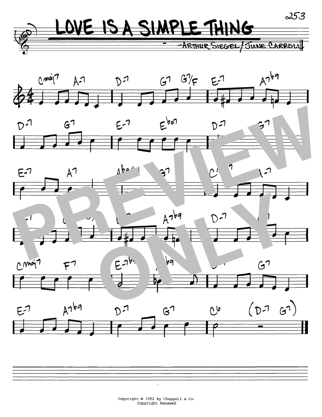 Love Is A Simple Thing sheet music