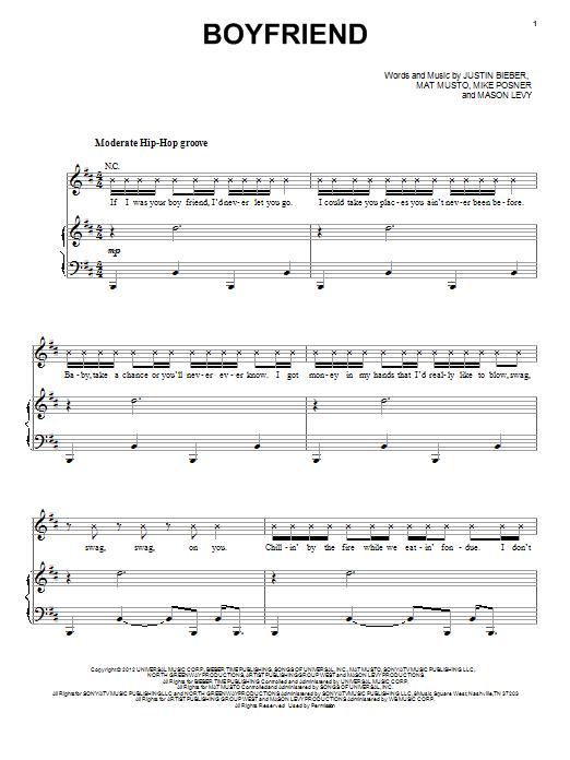 Boyfriend sheet music